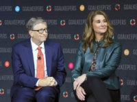 Bill Gates and his wife Melinda Gates introduce the Goalkeepers event at the Lincoln Center on September 26, 2018, in New York.