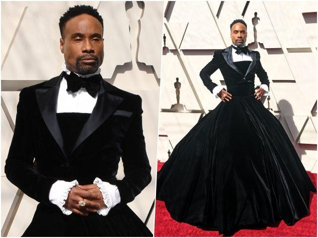 Billy Porter: Actor turns heads at Academy Awards by wearing tuxedo dress