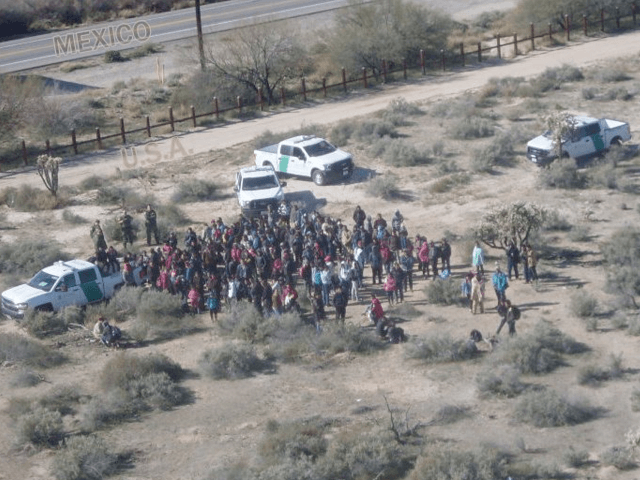 Tucson Sector Border Patrol agents apprehend 325 migrants near Lukeville, Arizona. (Photo: U.S. Border Patrol/Tucson Sector)