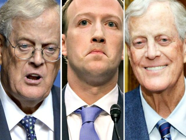Charles Koch, Mark Zuckerberg, David Koch Getty:AP