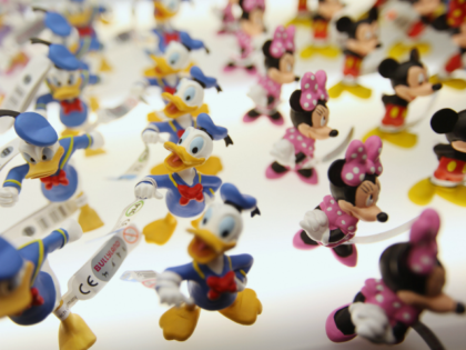 LONDON, ENGLAND - JANUARY 24: Bullyland figurines on display at the 2012 London Toy Fair at Olympia Exhibition Centre on January 24, 2012 in London, England. The annual fair which is organised by the British Toy and Hobby Association, brings together toy manufacturers with retailers from around the world. (Photo …