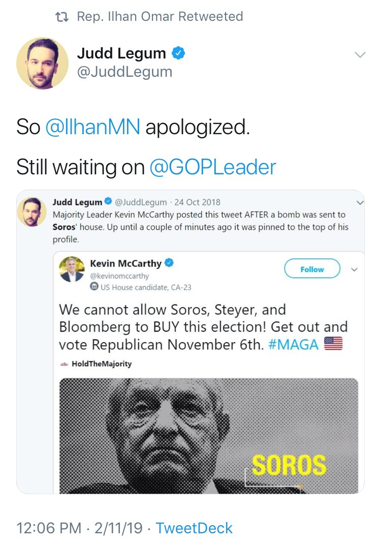 ilhan omar uses  u0026 39 apology u0026 39  for antisemitism to attack kevin