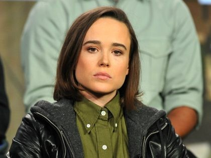 PASADENA, CA - JANUARY 06: Host Ellen Page, Gaycation, speaks onstage during the Viceland panel at the A+E Networks 2016 Television Critics Association Press Tour at The Langham Huntington Hotel and Spa on January 6, 2016 in Pasadena, California. (Photo by Jerod Harris/Getty Images for A+E Networks)