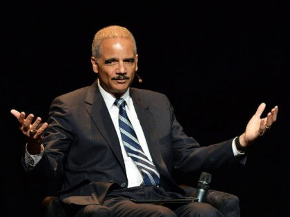 Eric Holder, Former U.S. Attorney General attends the 2016 'Tina Brown Live Media's American Justice Summit' at Gerald W. Lynch Theatre on January 29, 2016 in New York City.