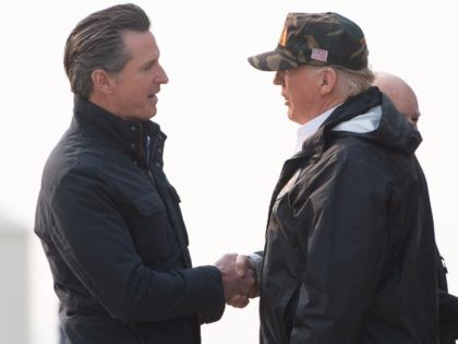 Gavin Newsom and Donald Trump (Saul Loeb / AFP / Getty)