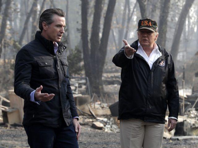 Gavin Newsom vs. Donald Trump (Evan Vucci / Associated Press)
