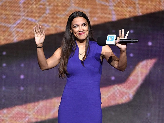 NEW YORK, NY - SEPTEMBER 26: Alexandria Ocasio-Cortez speaks onstage during WE Day UN 2018 at Barclays Center on September 26, 2018 in New York City. (Photo by Bryan Bedder/Getty Images for WE Day)