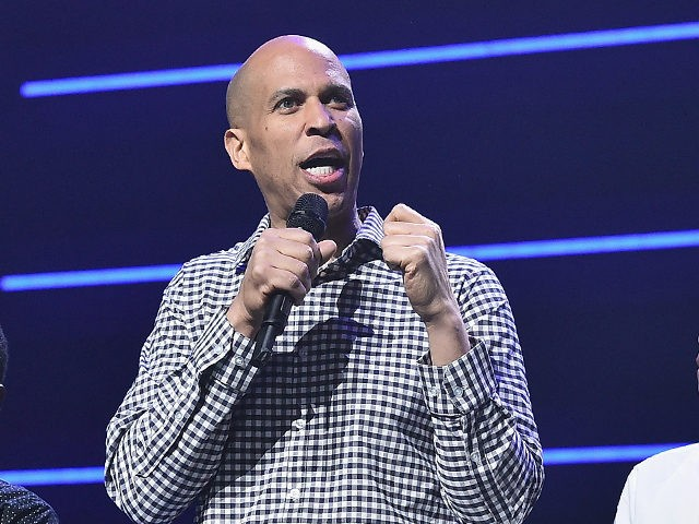 NEW YORK, NY - OCTOBER 23: Senator Cory Booker speaks onstage during the 4th Annual TIDAL X: Brooklyn at Barclays Center of Brooklyn on October 23, 2018 in New York City. (Photo by Theo Wargo/Getty Images for TIDAL)