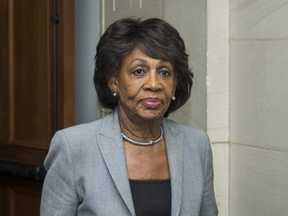 WASHINGTON, DC - NOVEMBER 28: Rep. Maxine Waters (D-CA) exits a Democratic Caucus meeting to elect new leadership on Capitol Hill on November 28, 2018 in Washington, DC. House Democrats have nominated Rep. Nancy Pelosi to run for Speaker of the House and elected Rep. Hakeem Jeffries (D-NY) to be …
