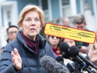 CAMBRIDGE, MA - DECEMBER 31: Sen. Elizabeth Warren (D-MA), addresses the media outside of her home after announcing she formed an exploratory committee for a 2020 Presidential run on December 31, 2018 in Cambridge, Massachusetts. Warren is one of the earliest potential candidates to make an official announcement in what …
