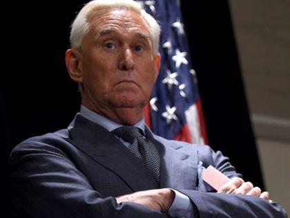 Roger Stone, longtime friend and confidant of US President Donald Trump, speaks to the press in Washington, DC, on January 31, 2019. - Stone pleaded not guilty on January 29 to charges stemming from the ongoing investigation into whether the US president's campaign colluded with Russia in the 2016 election. …