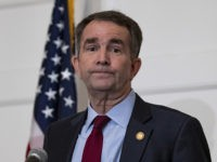 RICHMOND, VA - FEBRUARY 02: Virginia Governor Ralph Northam speaks with reporters at a press conference at the Governor's mansion on February 2, 2019 in Richmond, Virginia. Northam denies allegations that he is pictured in a yearbook photo wearing racist attire. (Photo by Alex Edelman/Getty Images)