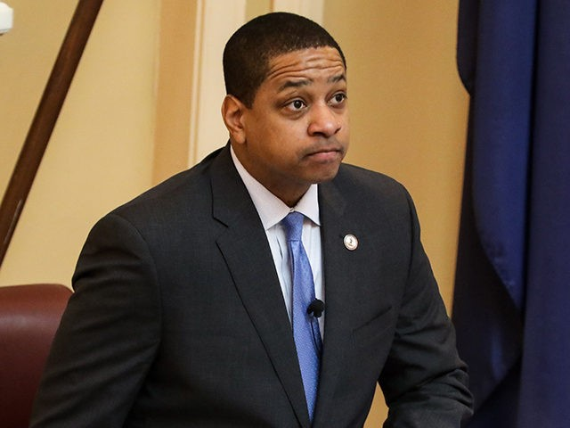 Virginia Lieutenant Governor Justin Fairfax presides over a session of the state senate inside the capital building in dowtown Richmond, on February 4, 2019. - Virginia politics went into further turmoil as the lieutenant governor of the eastern US state, where the governor is under intense pressure to resign, was …
