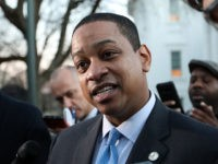 Virginia Lieutenant Governor Justin Fairfax addresses the media about a sexual assualt allegation from 2004 outside of the capital building in dowtown Richmond, February 4, 2019. - Virginia politics went into further turmoil as the lieutenant governor of the eastern US state, where the governor is under intense pressure to …
