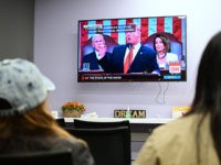 California State University Fullerton students gather to watch US President Donald Trump deliver the State of the Union address at the Dreamers Research center on campus in Fullerton, California on February 5, 2019. (Photo by Frederic J. BROWN / AFP) (Photo credit should read FREDERIC J. BROWN/AFP/Getty Images)