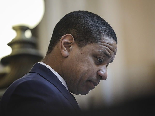 RICHMOND, VA - FEBRUARY 07: Virginia Lt. Governor Justin Fairfax presides over the Senate at the Virginia State Capitol, February 7, 2019 in Richmond, Virginia. Virginia state politics are in a state of upheaval, with Governor Ralph Northam and State Attorney General Mark Herring both admitting to past uses of …