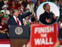EL PASO, TEXAS - FEBRUARY 11: President Donald Trump speaks during a rally at the El Paso County Coliseum on February 11, 2019 in El Paso, Texas. U.S. President Donald Trump continues his campaign for a wall to be built along the border as the Democrats in Congress are asking …