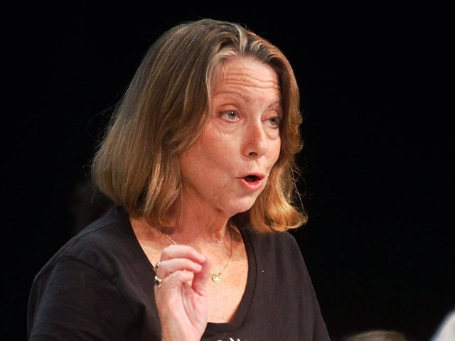 "NEW YORK, NY - OCTOBER 11: Jill Abramson participates in a panel discussion, ""You, The Jury: Cats Vs. Dogs,"" during the New Yorker Festival on October 11, 2014 in New York City. (Photo by Thos Robinson/Getty Images for The New Yorker)"