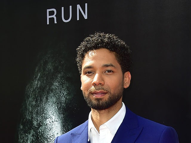 """From the cast of """"Alien: Convenant,"""" actor Jussie Smollett arrives on the red carpet ahead of Sir Ridley Scott's Hand and Footprint ceremony in front of the TCL Chinese Theater in Hollywood, California, on May 17, 2017. / AFP PHOTO / FREDERIC J. BROWN (Photo credit should read FREDERIC J. …"""