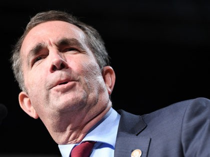Democratic Gubernatorial Candidate Ralph Northam speaks during a campaign rally in Richmond, Virginia on October 19, 2017. / AFP PHOTO / JIM WATSON (Photo credit should read JIM WATSON/AFP/Getty Images)