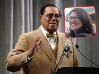 (INSET: Rashida Tlaib) WASHINGTON, DC - NOVEMBER 16: Nation of Islam Minister Louis Farrakhan delivers a speech and talks about U.S. President Donald Trump, at the Watergate Hotel, on November 16, 2017 in Washington, DC. This is the first time that Minister Farrakhan will speak directly to the 45th President …