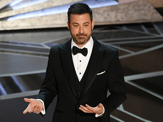 HOLLYWOOD, CA - MARCH 04: Host Jimmy Kimmel speaks onstage during the 90th Annual Academy Awards at the Dolby Theatre at Hollywood