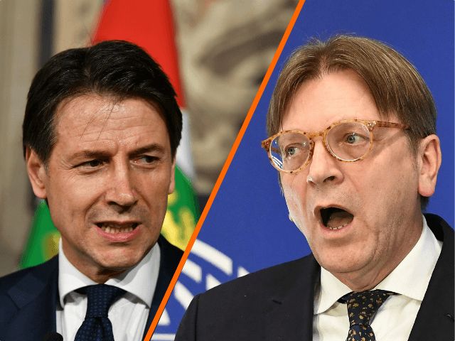 Italy's prime ministerial candidate Giuseppe Conte addresses journalists after a meeting with Italy's President Sergio Mattarella on May 27, 2018 at the Quirinale presidential palace in Rome. Italy's prime ministerial candidate Giuseppe Conte gave up on Sunday his mandate to form a government after talks with the president over his …