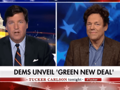 An adviser to Rep. Alexandria Ocasio-Cortez (D-NY) was caught lying to Tucker Carlson about the disastrous Green New Deal.