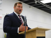 In this photo made on Sept. 21, 2018, Guy Reschenthaler Republican Pennsylvania State Senator from the 37th district speaks at a candiates forum in Tarentum, Pa. Reschenthaler faces Democrat Bibiana Boerio. (AP Photo/Keith Srakocic)