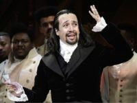 Lin-Manuel Miranda, composer and creator of the award-winning Broadway musical, Hamilton, offers a message of gratitude after receiving a standing ovation at the end of the play's premiere held at the Santurce Fine Arts Center, in San Juan, Puerto Rico, Friday, Jan. 11, 2019. The musical is set to run …