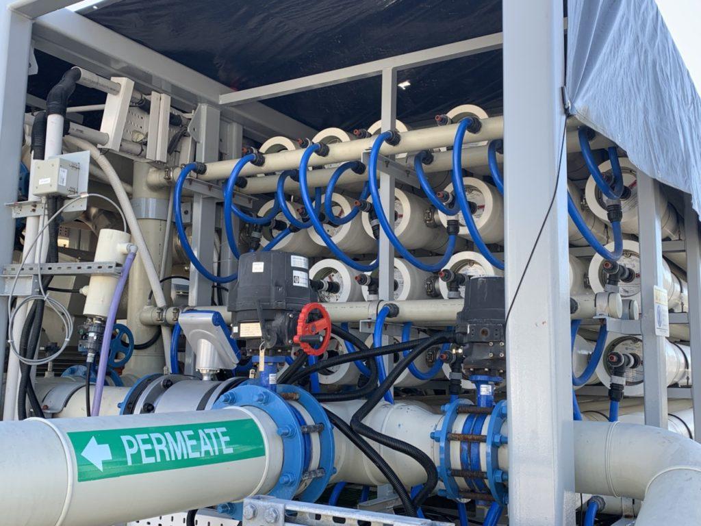 Charles E. Meyer Desalination Plant Reverse Osmosis Tubes (Joel Pollak / Breitbart News)