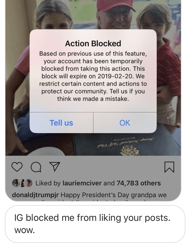 EXCLUSIVE: Donald Trump Jr's Followers Say Instagram Blocked Them
