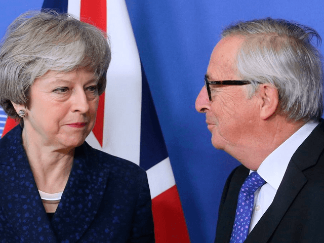 Theresa May heads to Brussels for Brexit taks with EU's Juncker