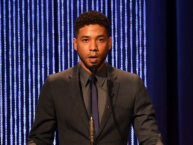BEVERLY HILLS, CA - DECEMBER 03: Actor/musician Jussie Smollett speaks onstage at the 25th Annual Children's Defense Fund Beat The Odds Awards at the Beverly Wilshire Four Seasons Hotel on December 3, 2015 in Beverly Hills, California. (Photo by Alberto E. Rodriguez/Getty Images)