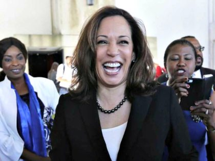 Kamala Harris Ignores Question About Child Sex Trafficking to Take Selfies