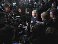 CEDAR RAPIDS, IOWA - FEBRUARY 18: U.S. Senator Kirsten Gillibrand speaks to the press during a campaign stop at the Chrome Horse Saloon on February 18, 2019 in Cedar Rapids, Iowa. Gillibrand, who is seeking the 2020 Democratic nomination for president, made campaign stops in Cedar Rapids and Iowa City …