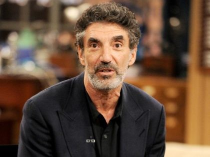 BURBANK, CA - AUGUST 15: Creator/executive producer Chuck Lorre appears on the set of 'The Big Bang Theory' for a dialogue with members of The Academy of Television Arts and Sciences at Warner Bros. Studios on August 15, 2013 in Burbank, California. (Photo by Kevin Winter/Getty Images)