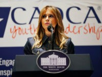 First lady Melania Trump speaks at the Community Anti-Drug Coalitions of America (CADCA) National Leadership Forum, in National Harbor, Md., Thursday, Feb. 7, 2019. (AP Photo/Jacquelyn Martin)