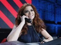 LOS ANGELES, CA - OCTOBER 14: In this handout photo provided by One Voice: Somos Live!, Debra Messing participates in the phone bank during 'One Voice: Somos Live! A Concert For Disaster Relief' at the Universal Studios Lot on October 14, 2017 in Los Angeles, California. (Photo by Evans Vestal …