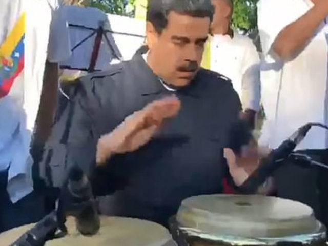 War Drums? Maduro Plays Congas in Salsa Concert While Denying Venezuelans Food Aid
