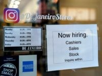 NEW YORK, NY - JANUARY 4: A 'now hiring' sign hangs on the door of a retail small business store in Lower Manhattan, January 4, 2019 in New York City. Following a strong December jobs report, U.S. stocks soared on Friday. In a television interview on Friday morning, National Economic …