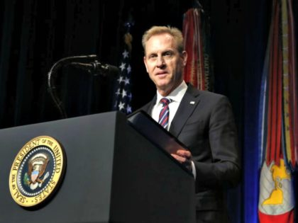 Acting Secretary of Defense Patrick Shanahan speaks during a Missile Defense Review announcement on January 17, 2019 at the Pentagon, in Arlington, Virginia. President Trump pushed for a more aggressive missle defense system to counter threats from North Korea, Russia and China. (Photo by Martin H. Simon - Pool/Getty Images)