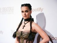 Katy Perry arrives at Spotify Presents The Creators Party at Cicada on Saturday, Feb. 13, 2016, in Los Angeles. (Photo by Rich Fury/Invision/AP)