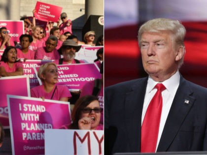 Planned Parenthood Donald Trump Collage