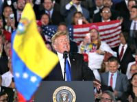 MIAMI, FLORIDA - FEBRUARY 18: President Donald Trump speaks during a rally at Florida International University on February 18, 2019 in Miami, Florida. President Trump spoke about the ongoing crisis in Venezuela. (Photo by Joe Raedle/Getty Images)