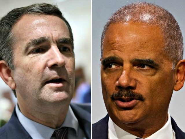 Ralph Northam, Eric Holder AP