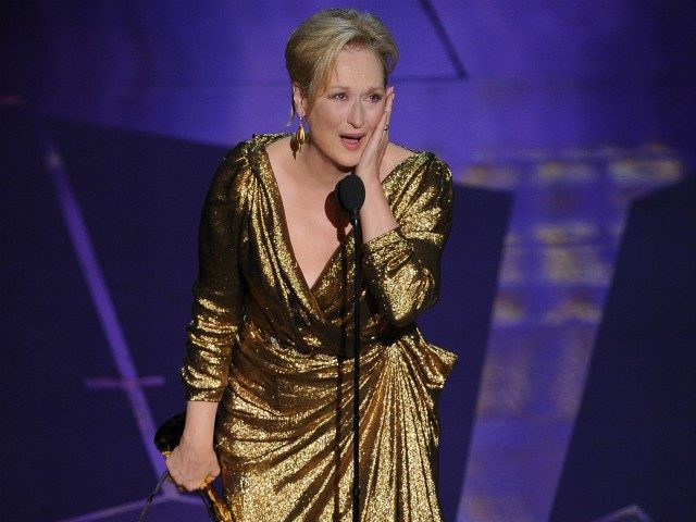 Actress Meryl Streep accepts the award for Best Actress in a Motion Picture for her role in 'The Iron Lady' at the 84th Annual Academy Awards on February 26, 2012 in Hollywood, California. AFP PHOTO Robyn BECK (Photo credit should read ROBYN BECK/AFP/Getty Images)