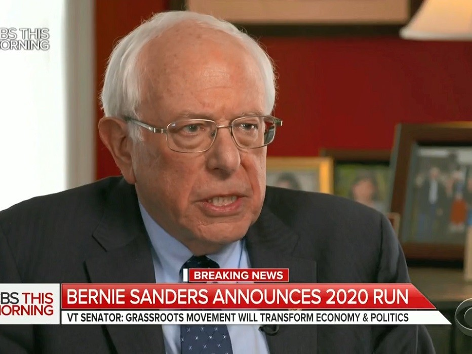 Bernie Sanders Announces 2020 Bid; Says It Is 'Absolutely Imperative' That 'Pathological Liar' Trump Be Defeated