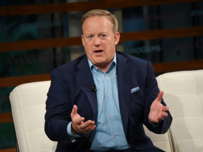 Former White House Press Secretary Sean Spicer participates in the Yahoo Finance All Markets Summit: A World of Change at The TimesCenter on Thursday, Sept. 20, 2018, in New York. (Photo by Evan Agostini/Invision/AP)