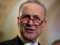 Senate Minority Leader Chuck Schumer, D-N.Y., speaks to reporters in advance of President Donald Trump's State of the Union speech, on Capitol Hill in Washington, Tuesday, Feb. 5, 2019. (AP Photo/J. Scott Applewhite)